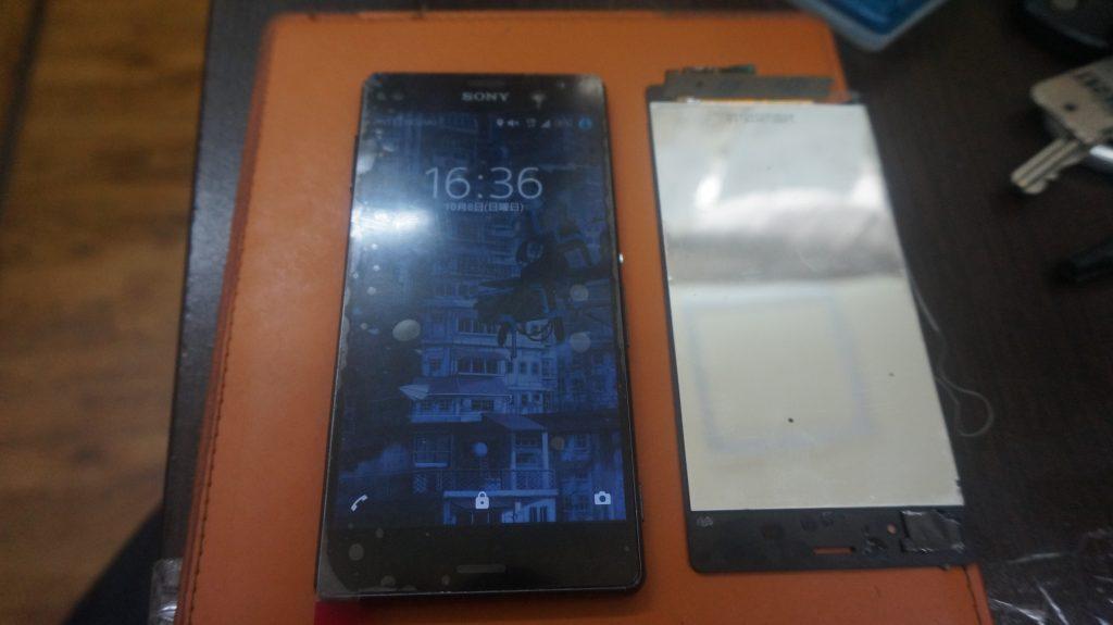 液晶割れを交換 SONY Xperia Z3 6