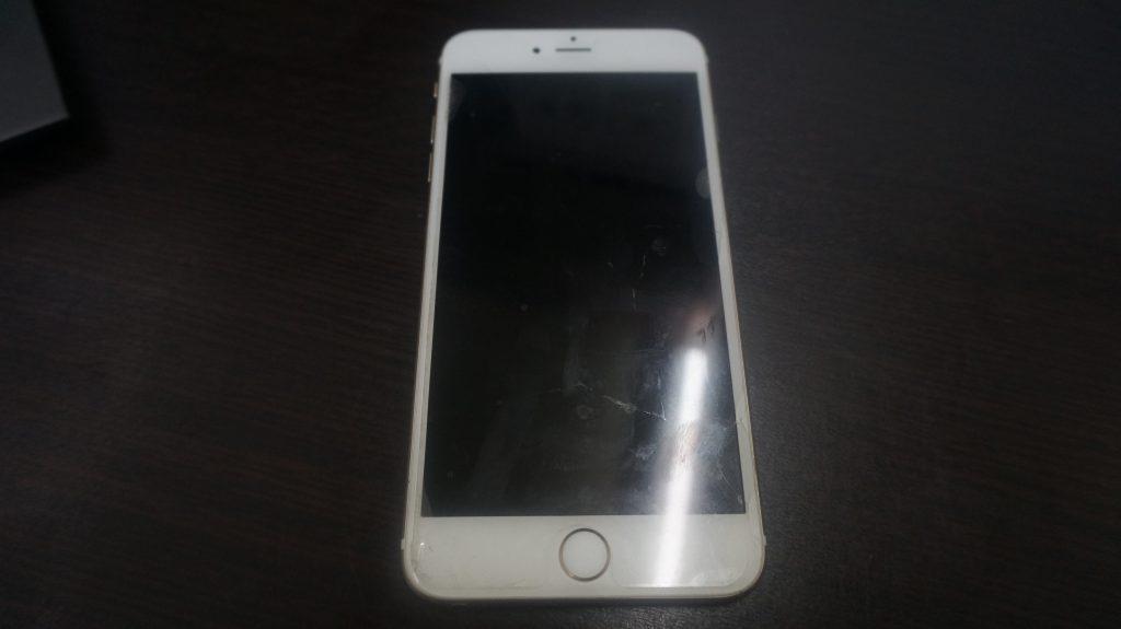 液晶ガラス割れパネル交換 iPhone6s 1