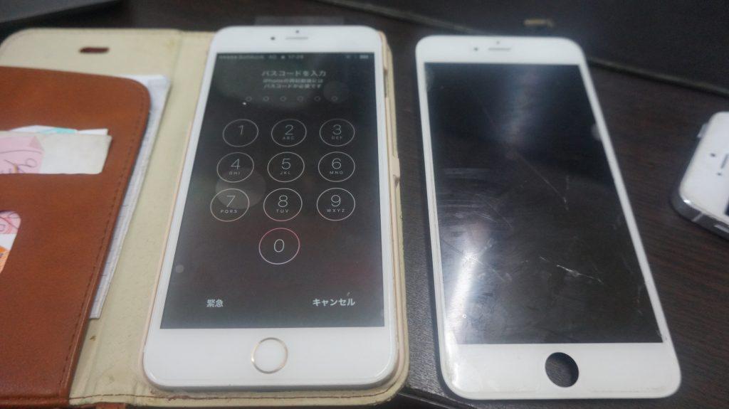 液晶ガラス割れパネル交換 iPhone6s 6