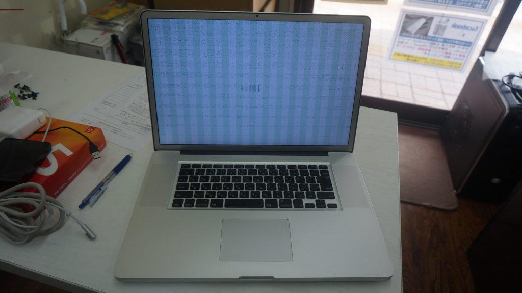 グラフィックチップ交換 SSD換装・メモリ Macbook Pro 17 A1297 2011 1