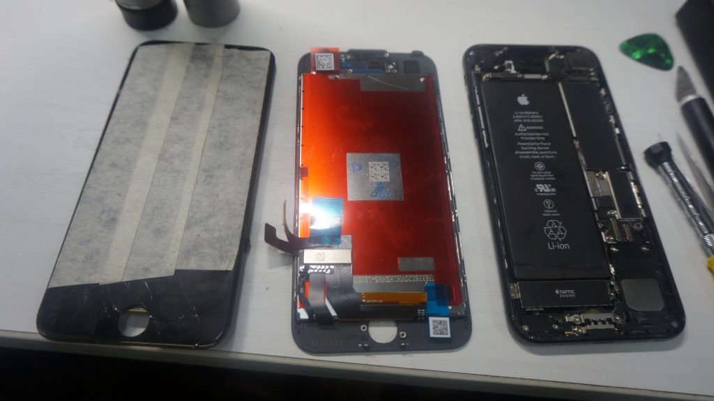 画面がバリバリ液晶交換 iPhone7 5