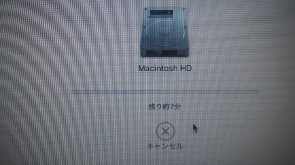 起動しなくなった SSD持参換装 Macbook A1278 9