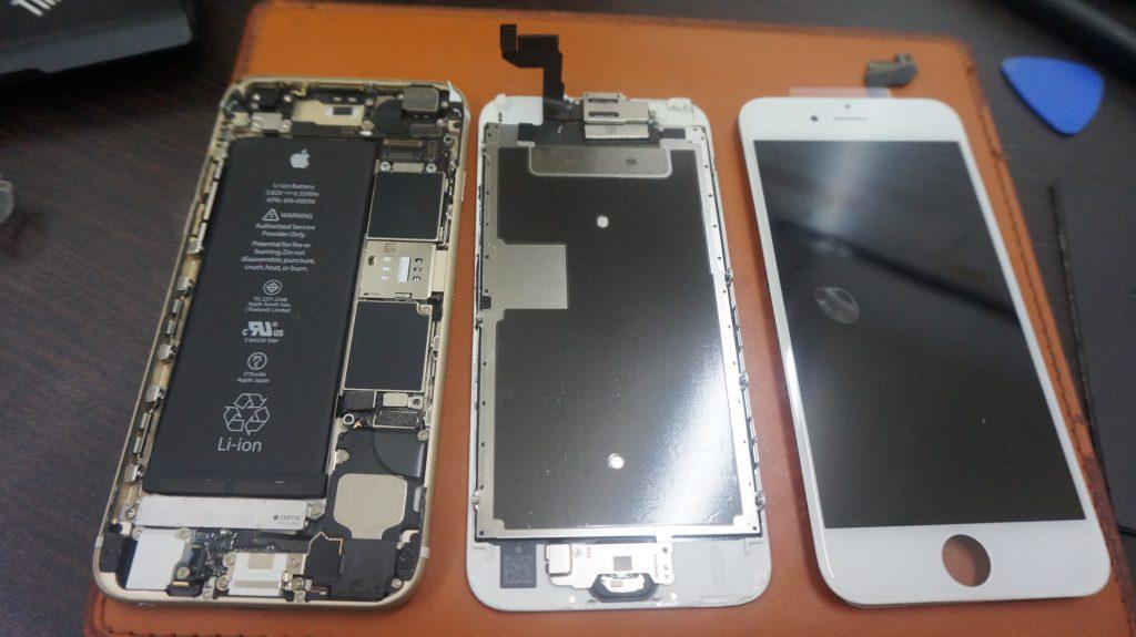 画面バリバリを交換 iPhone6s 3