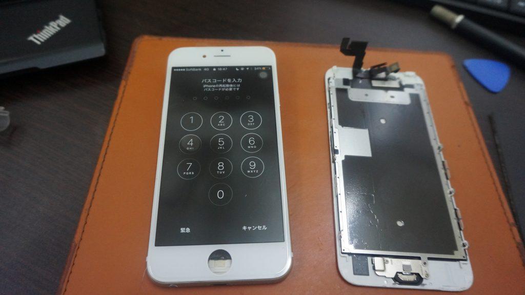 画面バリバリを交換 iPhone6s 4