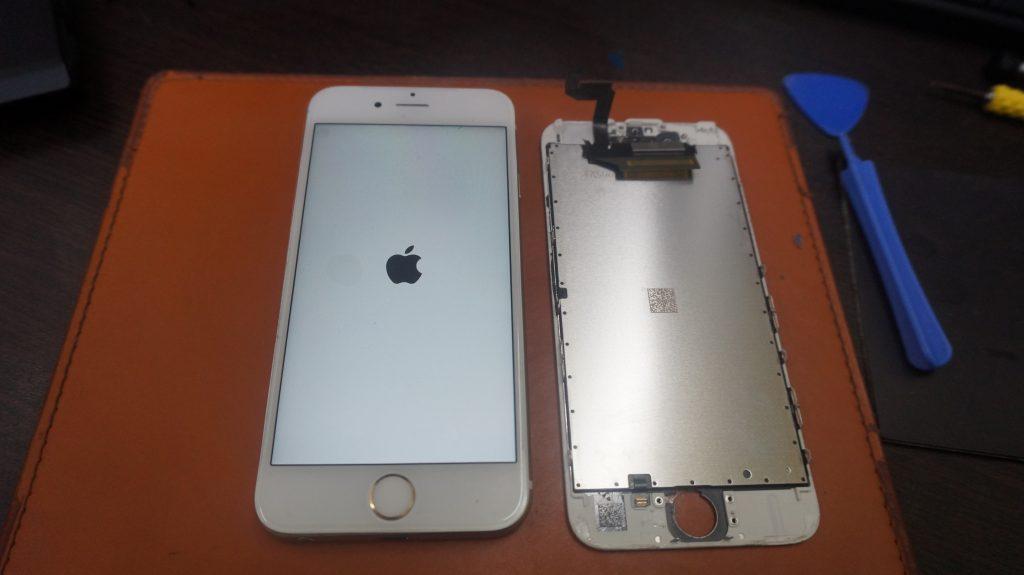 画面バリバリを交換 iPhone6s 6
