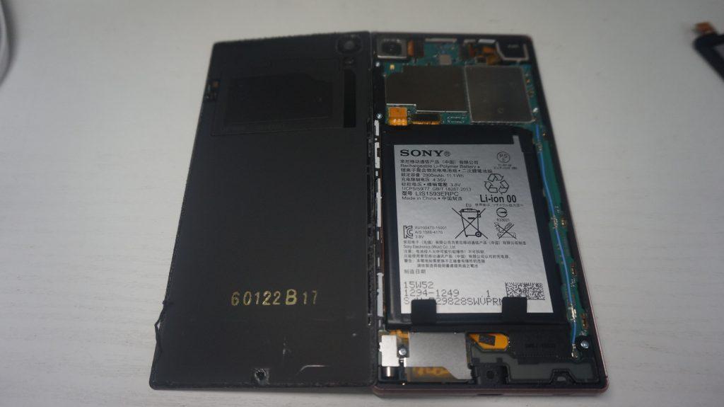 バッテリーが50%くらいで落ちる バッテリー交換 Xperia Z5 3