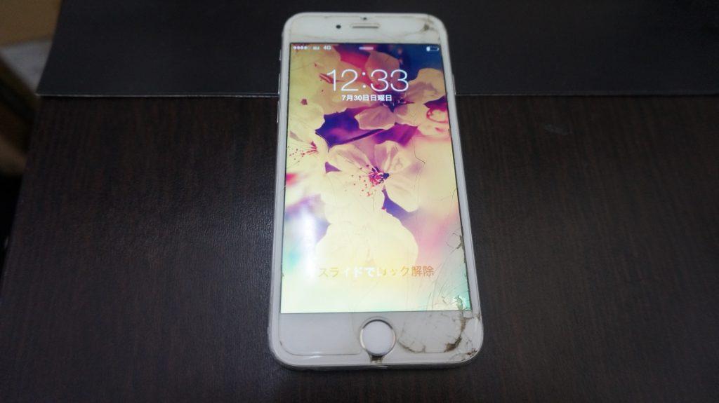 画面下部割れ 液晶交換 iPhone6 1