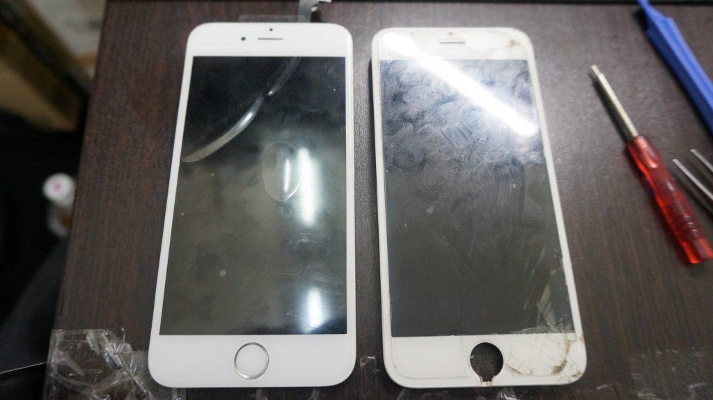 画面下部割れ 液晶交換 iPhone6 4