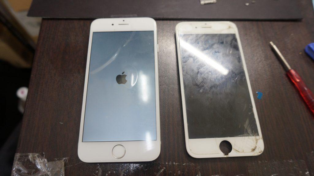 画面下部割れ 液晶交換 iPhone6 5
