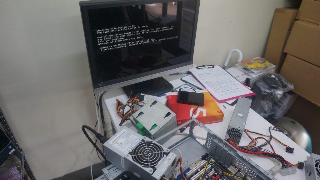 電源が入らない 電源交換 mouse computerスリム型 4