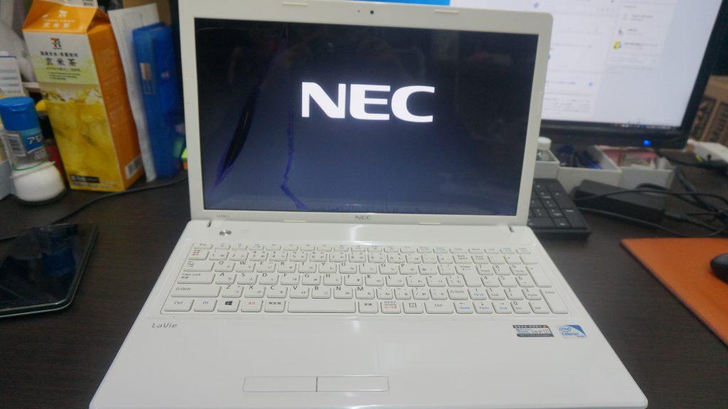 液晶割れ液晶交換 NEC LS150/L 1