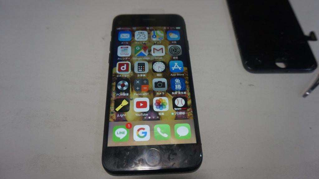 ガラス交換液晶交換が安い iPhone7 7