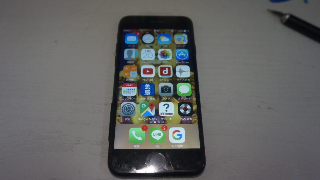 ひび割れにより液晶交換 iPhone7 6