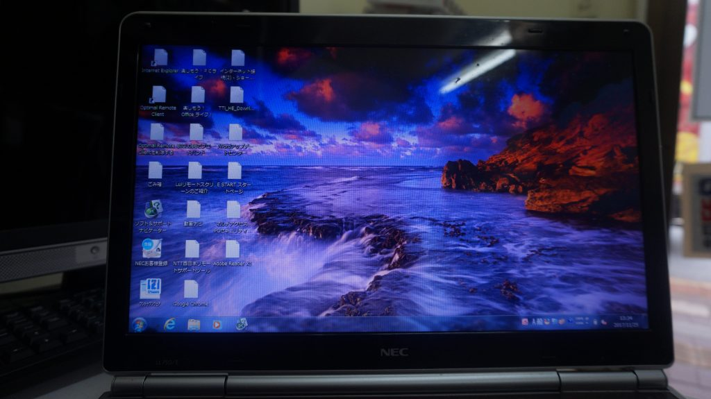 HDD異常で動きが遅い SSD換装 DVDドライブ交換 NEC LL750/E 2