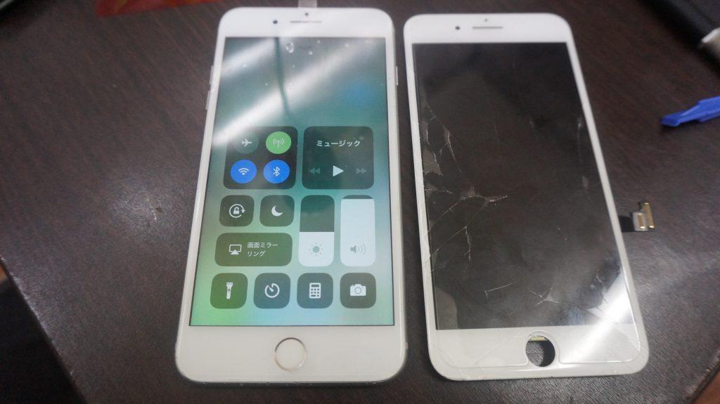 ガラス液晶割れ交換安い iPhone7 6