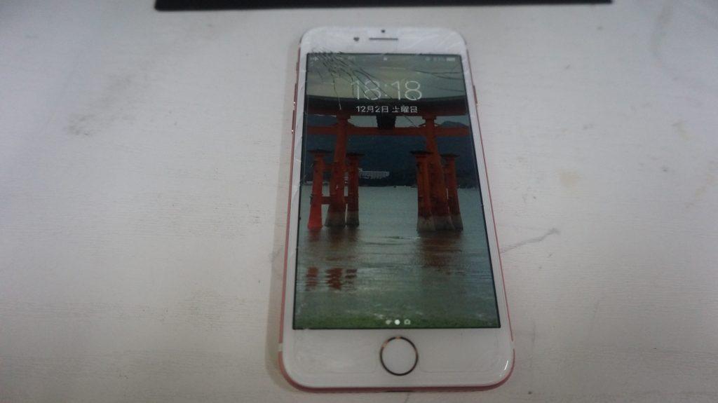 画面割れ液晶割れにより液晶パネル交換 iPhone7 1