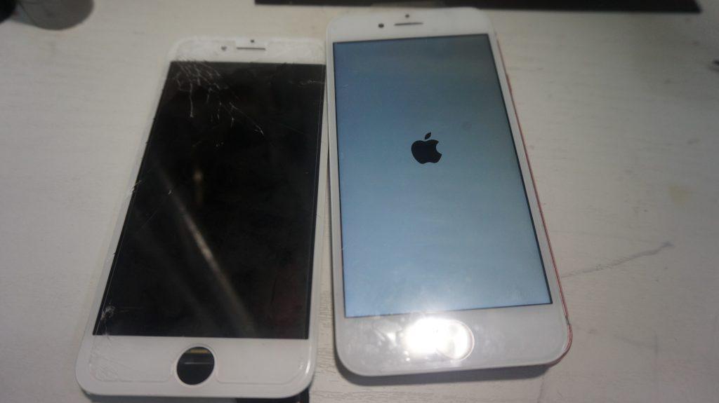 画面割れ液晶割れにより液晶パネル交換 iPhone7 5
