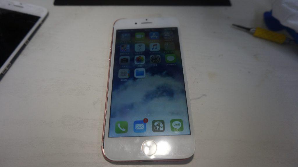 画面割れ液晶割れにより液晶パネル交換 iPhone7 6