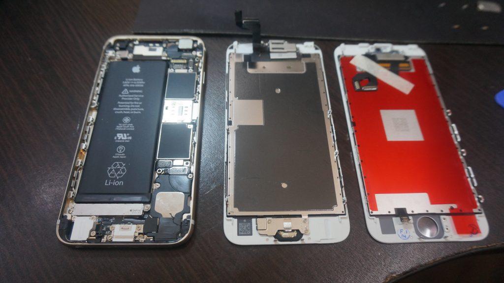 液晶ガラスに亀裂 液晶交換 iPhone6s 4