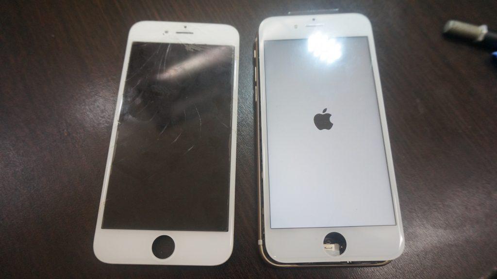 液晶ガラスに亀裂 液晶交換 iPhone6s 5