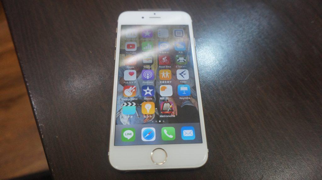 液晶ガラスに亀裂 液晶交換 iPhone6s 6