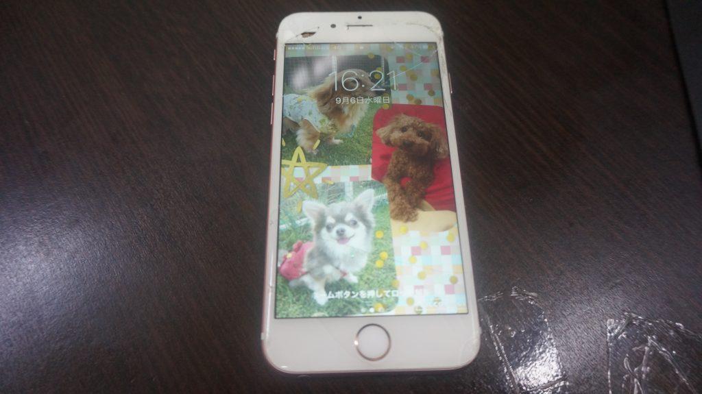 上部ベゼル液晶割れ交換 iPhone6s 1