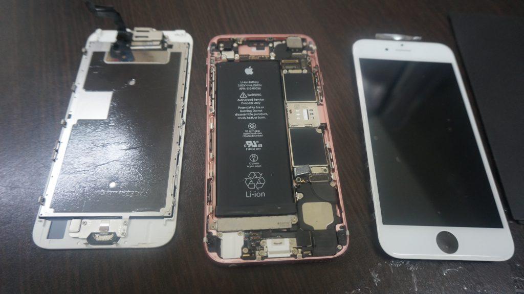 上部ベゼル液晶割れ交換 iPhone6s 3