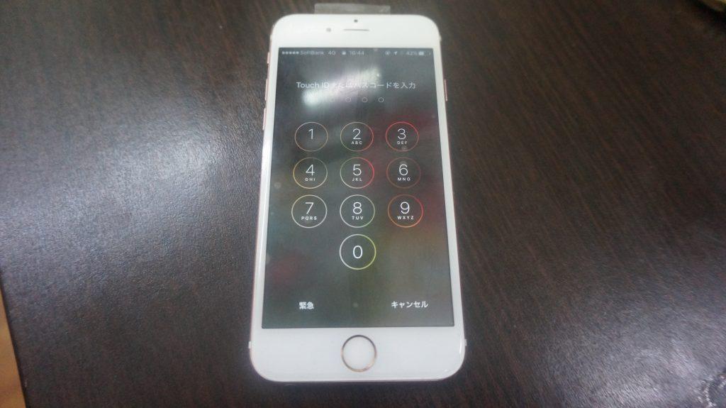 上部ベゼル液晶割れ交換 iPhone6s 6