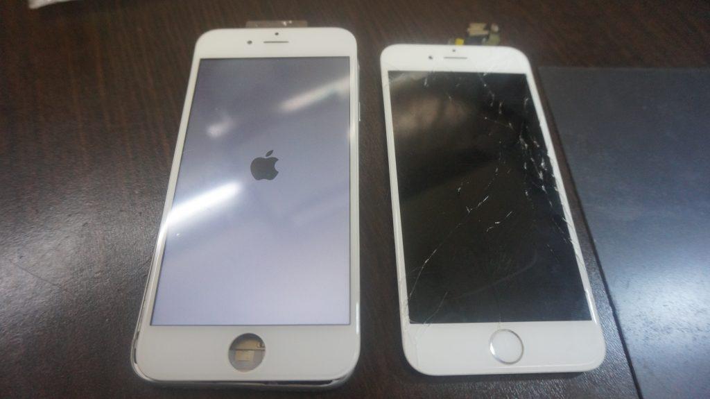 液晶とバッテリー交換 iPhone6 4