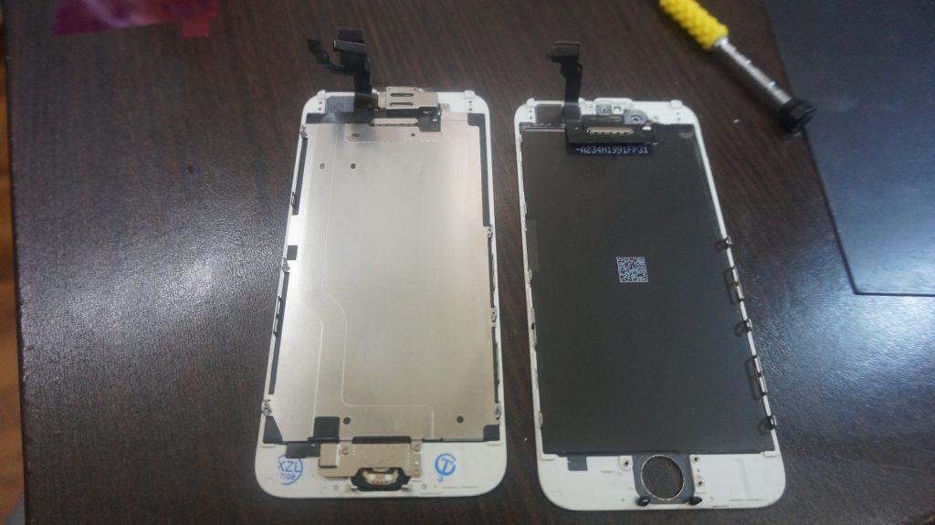 液晶とバッテリー交換 iPhone6 5