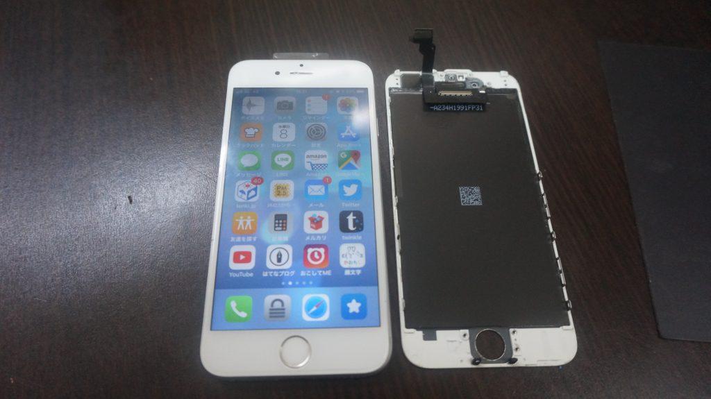 液晶とバッテリー交換 iPhone6 6