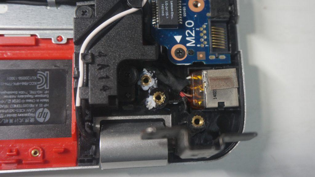 ヒンジ壊れ割れ修理 HP Envy 6