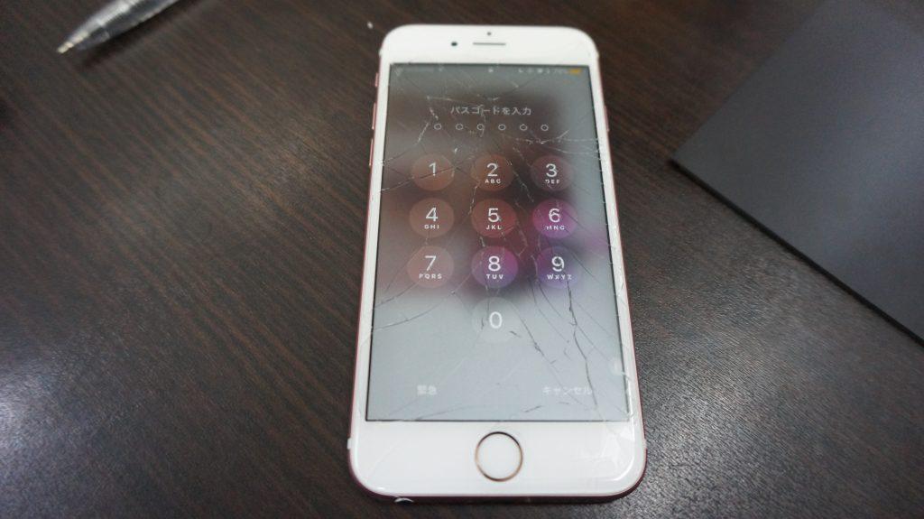 液晶割れをデータそのまま30分で安く交換 iPhone6s 1