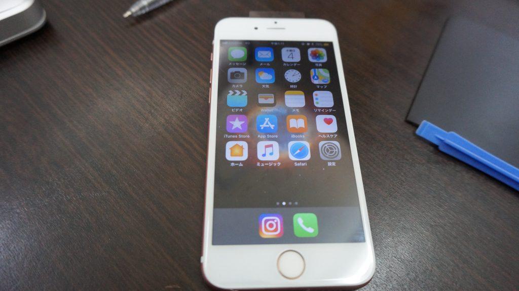 液晶割れをデータそのまま30分で安く交換 iPhone6s 4