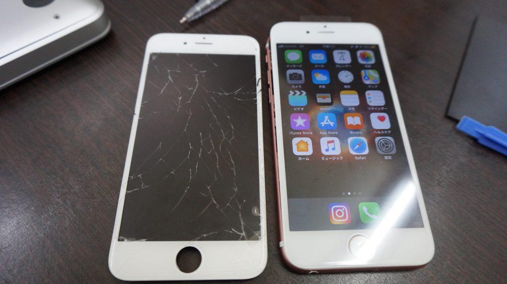 液晶割れをデータそのまま30分で安く交換 iPhone6s 5