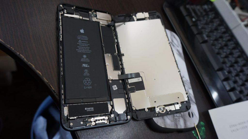 液晶バリ割れ交換 iPhone7 2