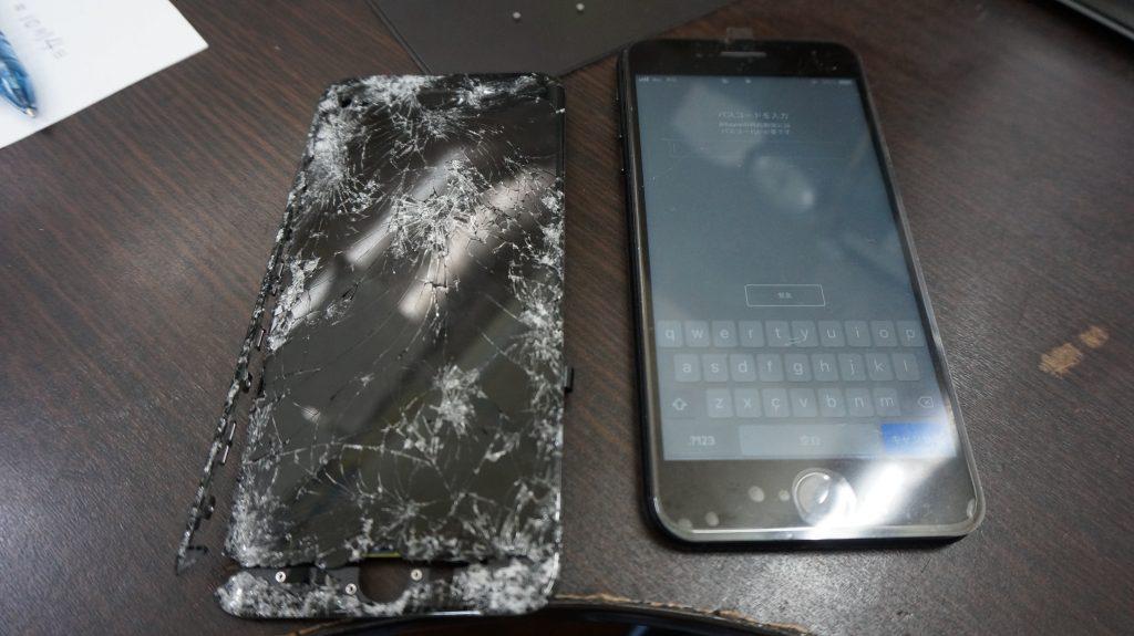 液晶バリ割れ交換 iPhone7 4