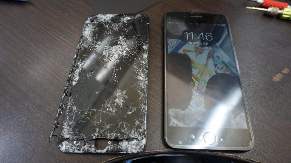 液晶バリ割れ交換 iPhone7 5