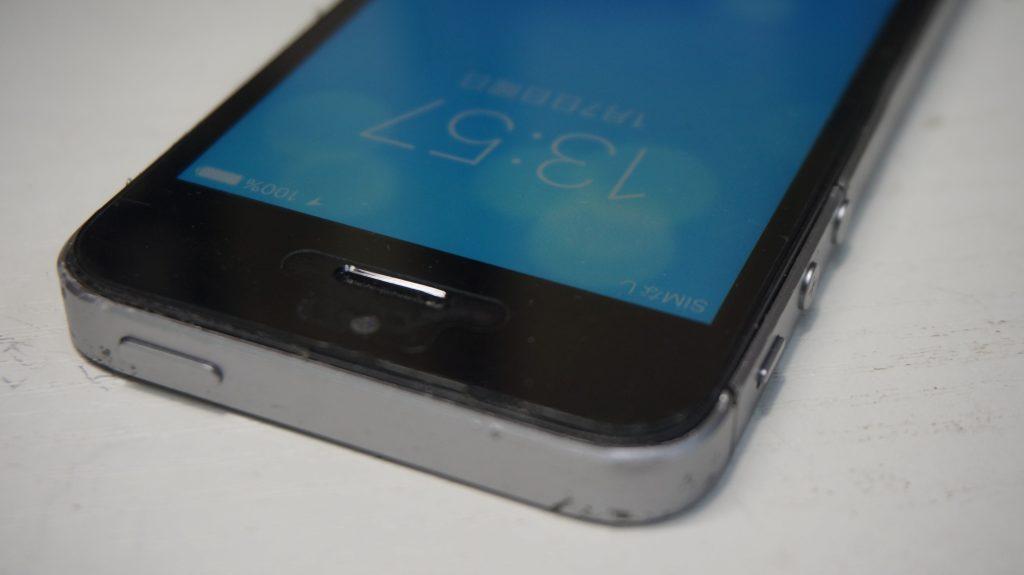 折れ曲がったiPhoneを直す iPhoneSE 7