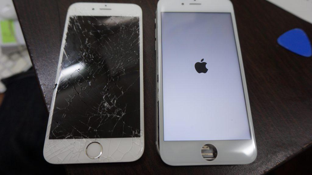 画面割れ交換修理 30分で直します iPhone6s 4
