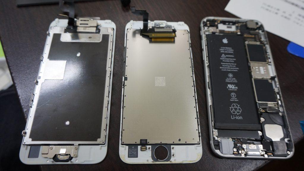 画面割れ交換修理 30分で直します iPhone6s 5