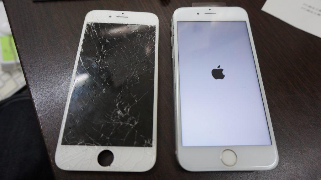 画面割れ交換修理 30分で直します iPhone6s 6