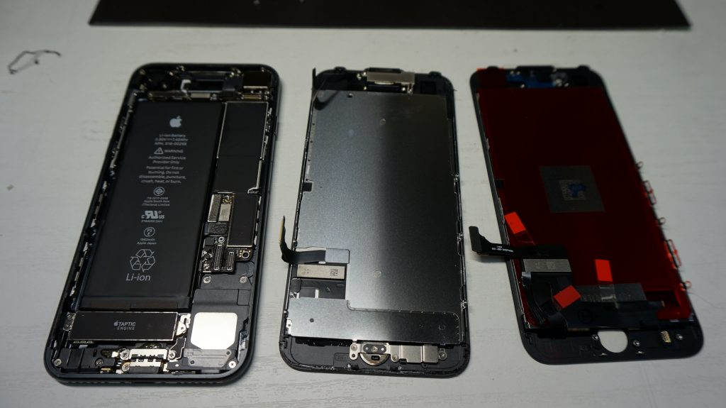 液晶画面が割れた 30分で液晶交換 iPhone7 4