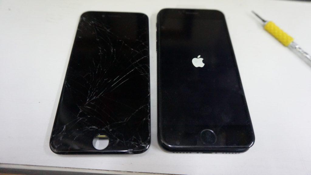 液晶画面が割れた 30分で液晶交換 iPhone7 5