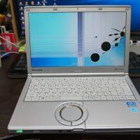 液晶割れ交換 Panasonic Let's Note CF-SX2 1