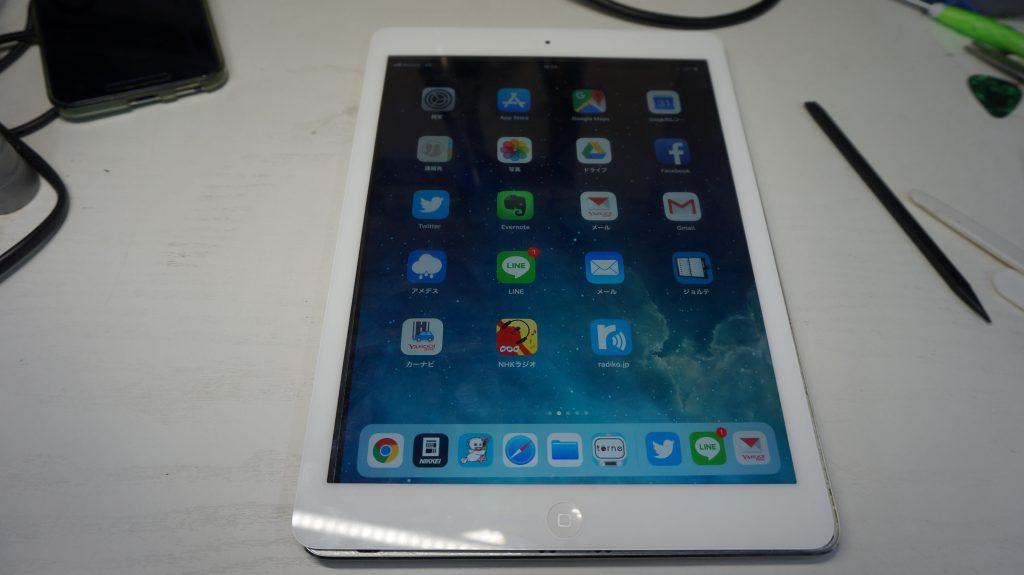 バッテリー劣化によりバッテリー交換 iPad Air 8