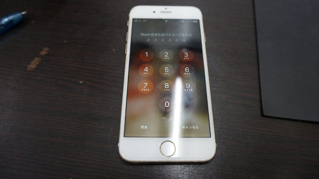 ガラスにヒビ 液晶交換 iPhone6s 1