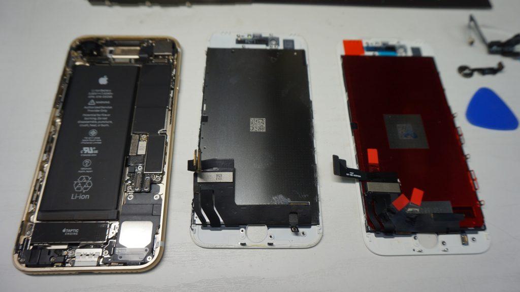 ひび割れガラス割れ 液晶交換 iPhone7 4