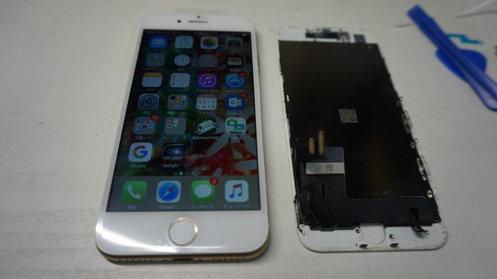 ひび割れガラス割れ 液晶交換 iPhone7 6
