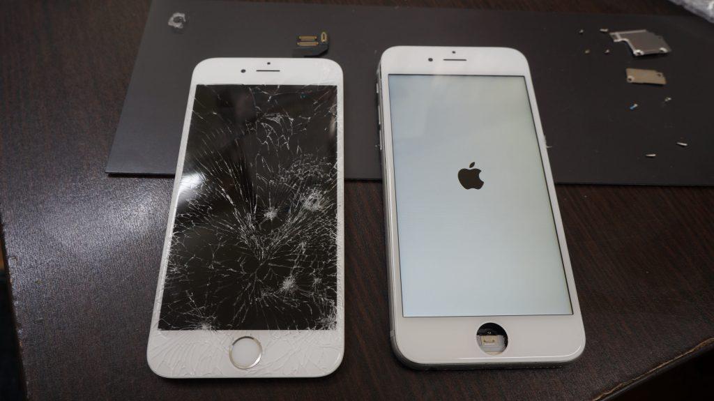 バリバリに割れた液晶交換 iPhon6s 4